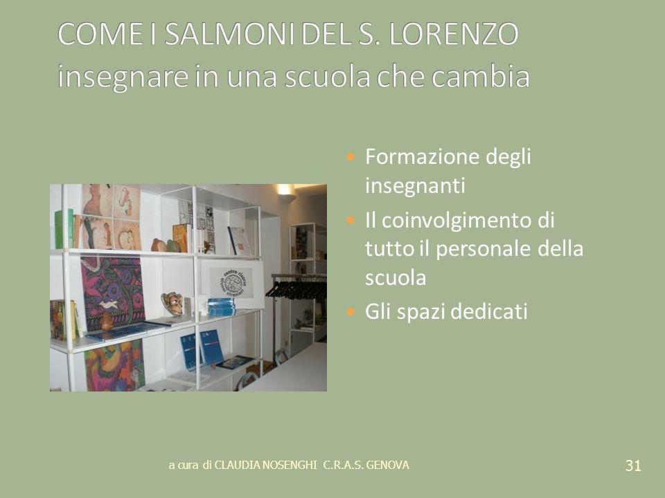COME I SALMONI DEL S. LORENZO insegnare in una scuola che cambia
