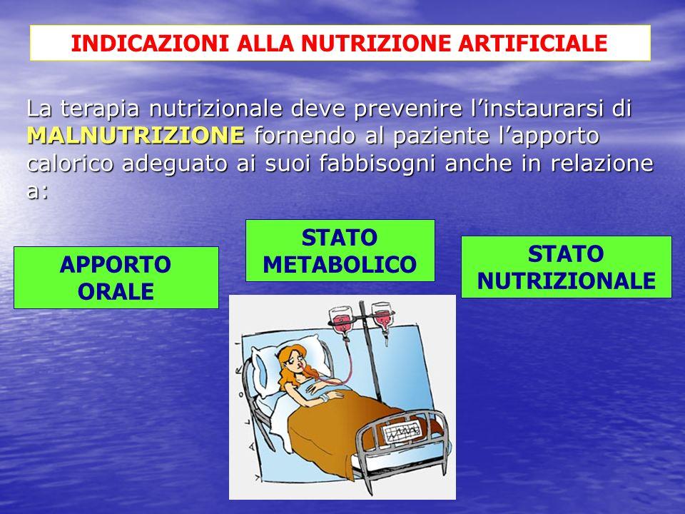 INDICAZIONI ALLA NUTRIZIONE ARTIFICIALE
