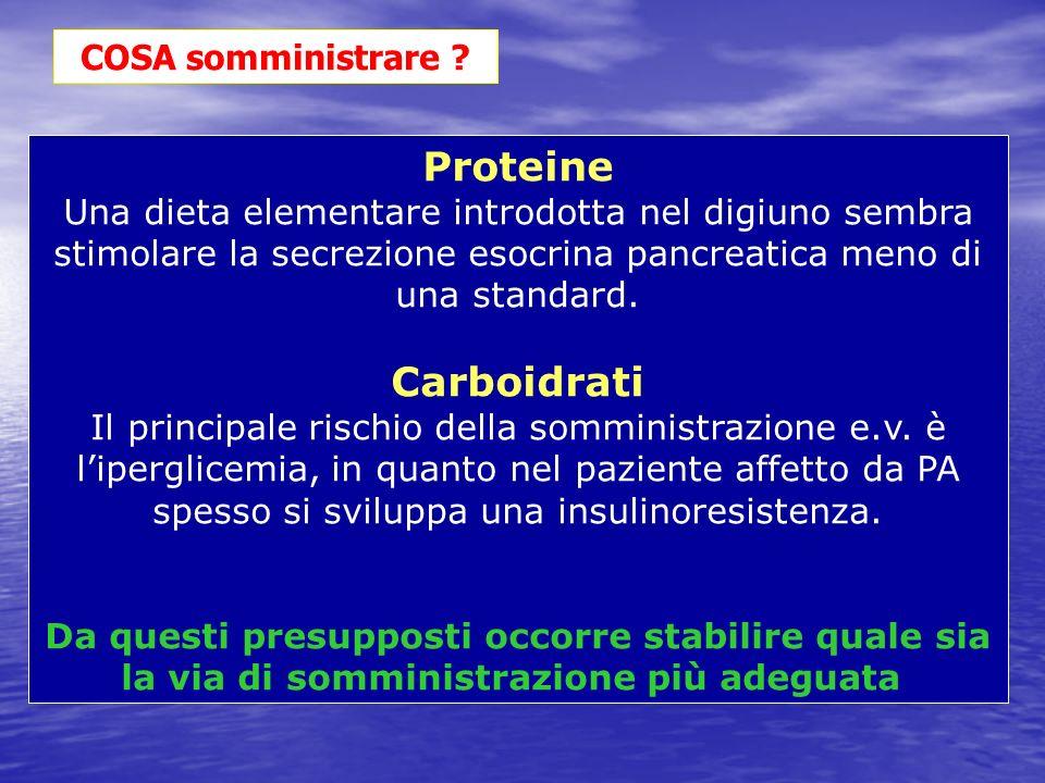 Proteine Carboidrati COSA somministrare