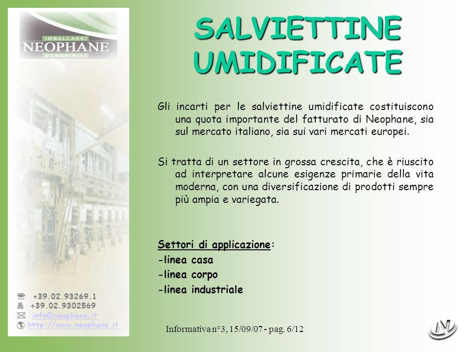 SALVIETTINE UMIDIFICATE