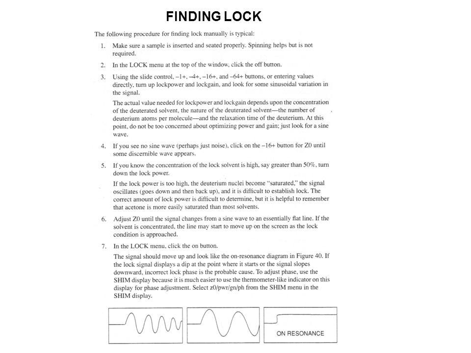 FINDING LOCK