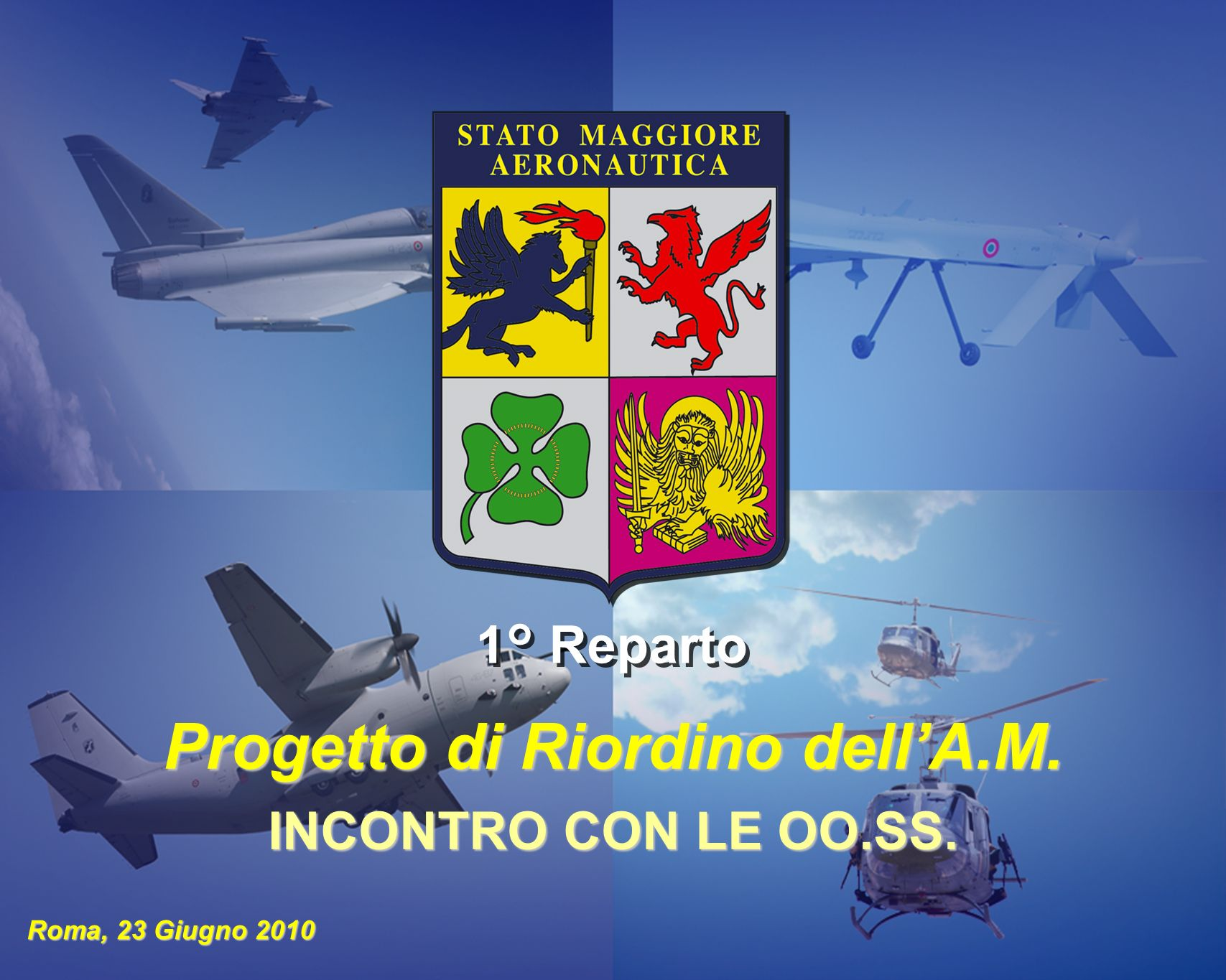 Progetto di Riordino dell'A.M.