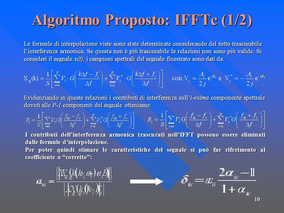 Algoritmo Proposto: IFFTc (1/2)