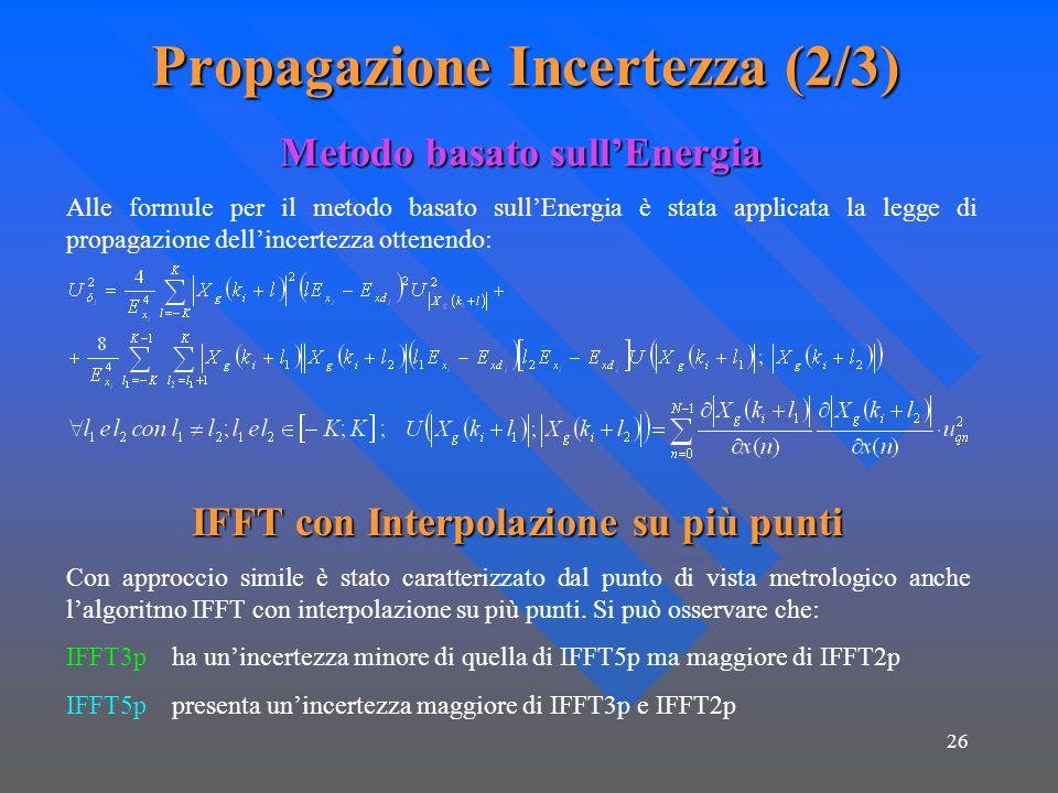Propagazione Incertezza (2/3)
