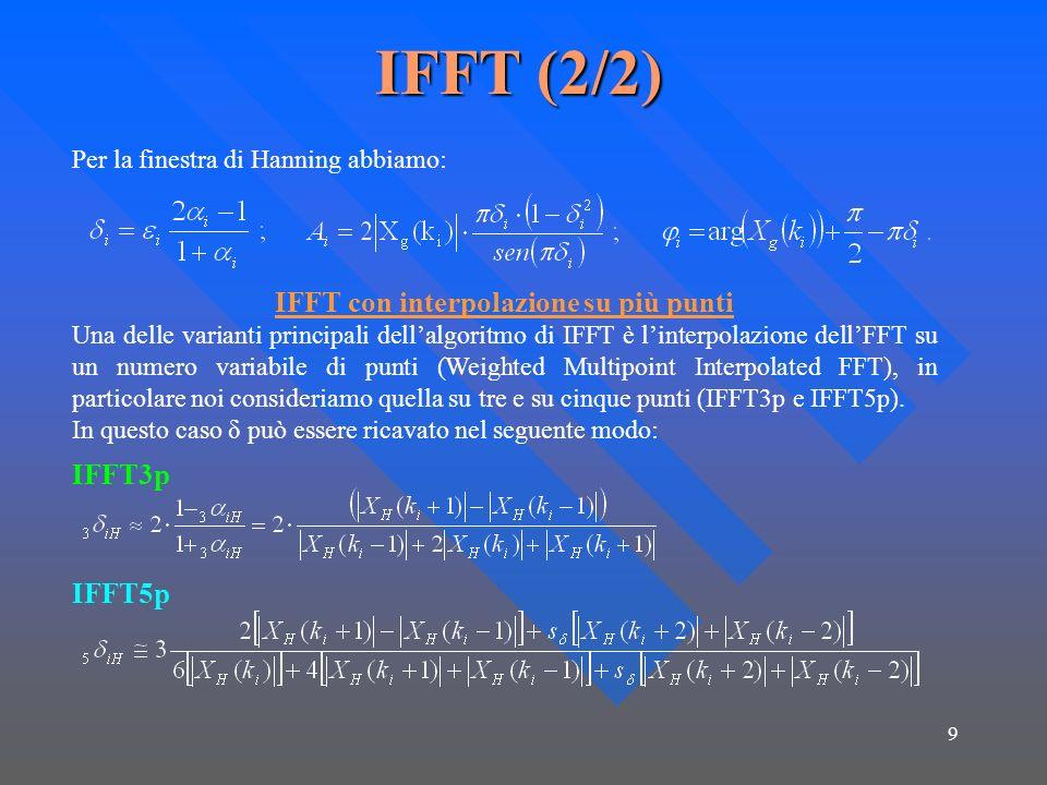 IFFT con interpolazione su più punti