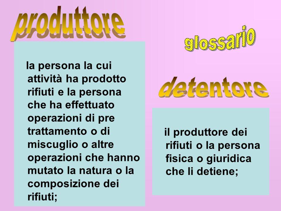 produttore glossario detentore