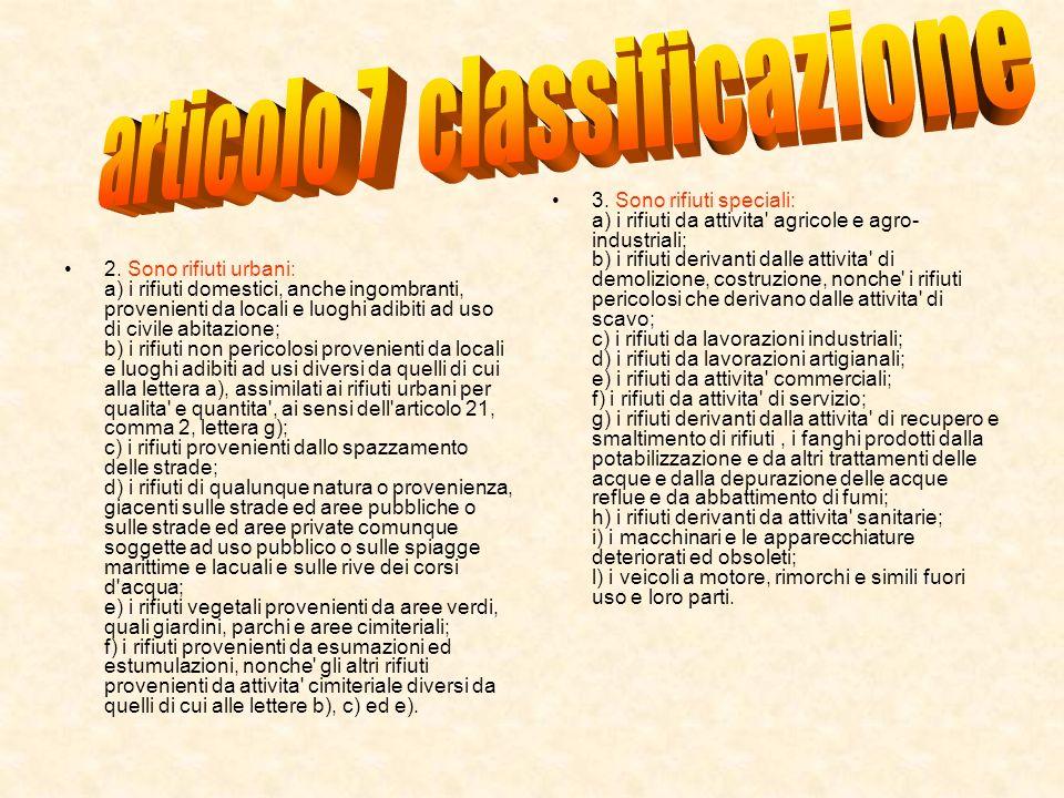 articolo 7 classificazione