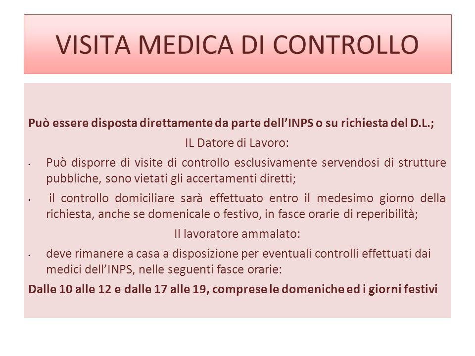 VISITA MEDICA DI CONTROLLO