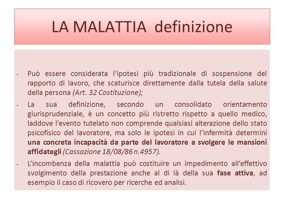 LA MALATTIA definizione