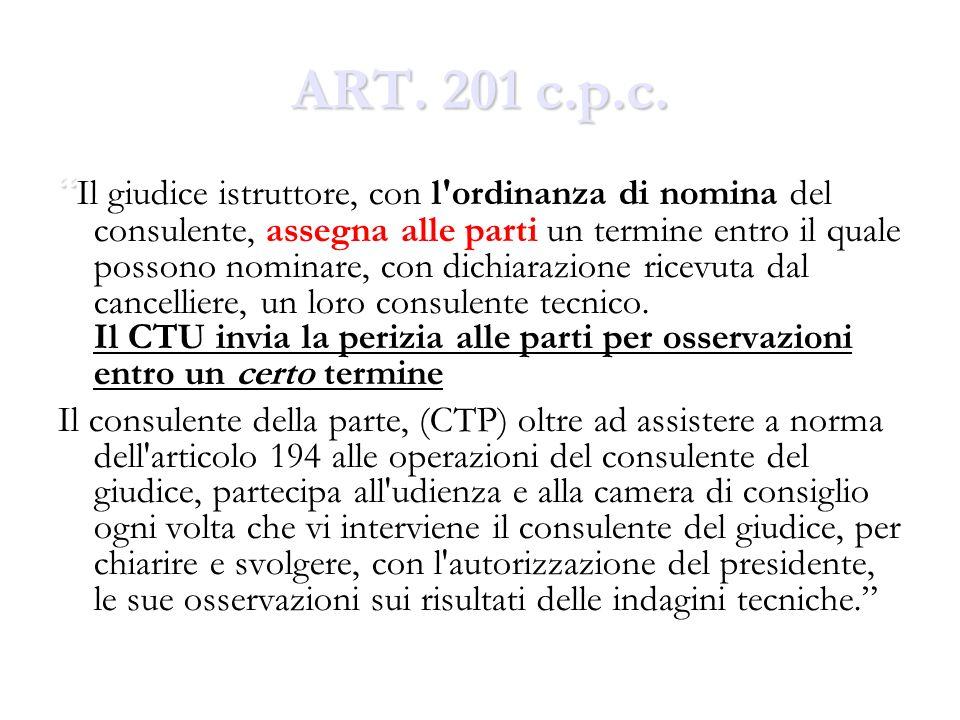 ART. 201 c.p.c.