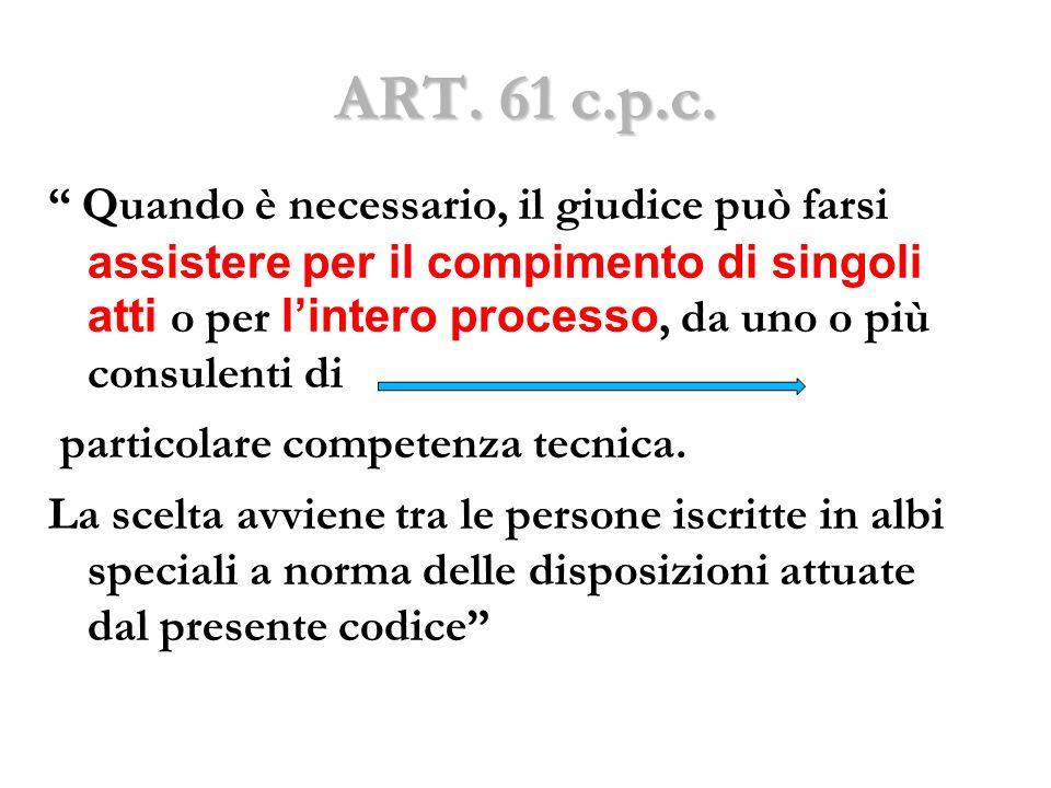 ART. 61 c.p.c.