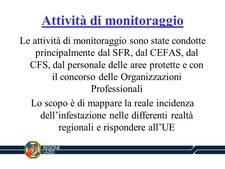 Attività di monitoraggio