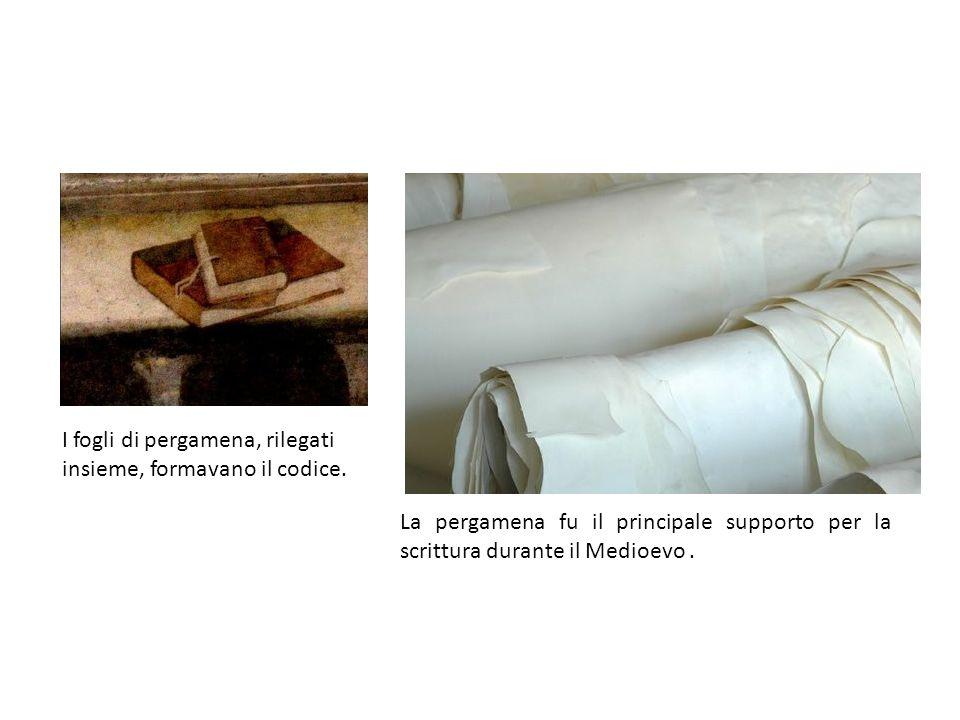I fogli di pergamena, rilegati insieme, formavano il codice.