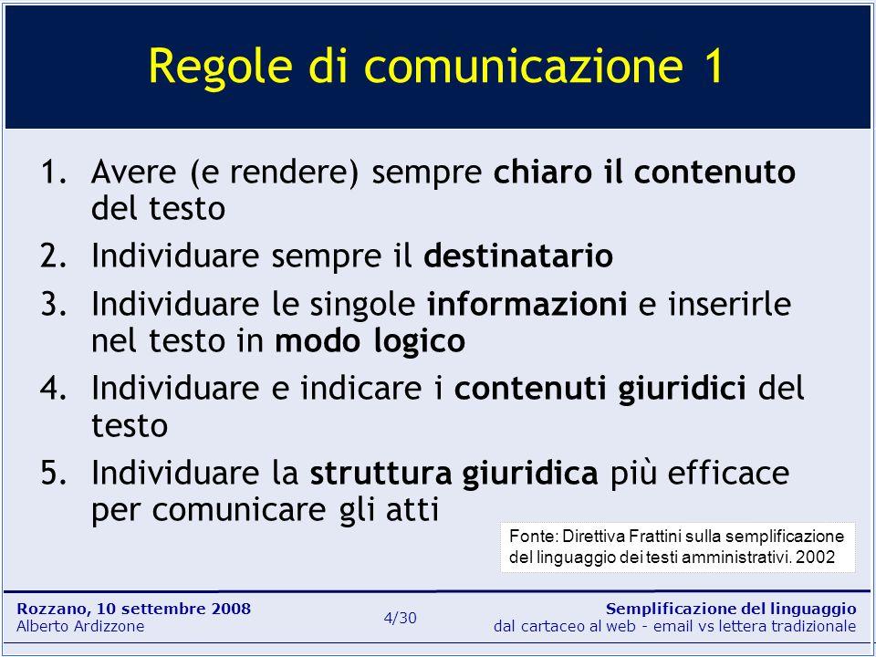 Regole di comunicazione 1
