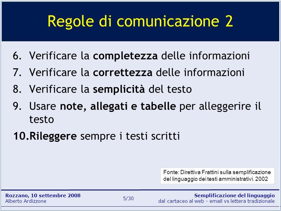 Regole di comunicazione 2