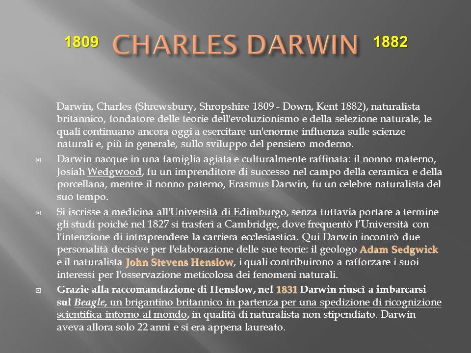 CHARLES DARWIN 1809. 1882.