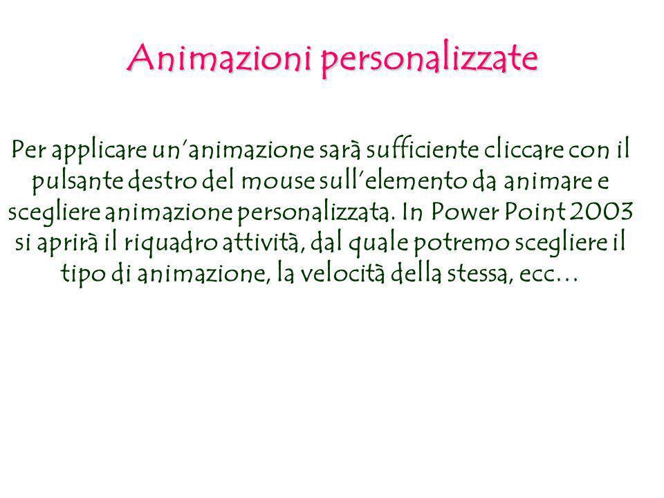 Animazioni personalizzate