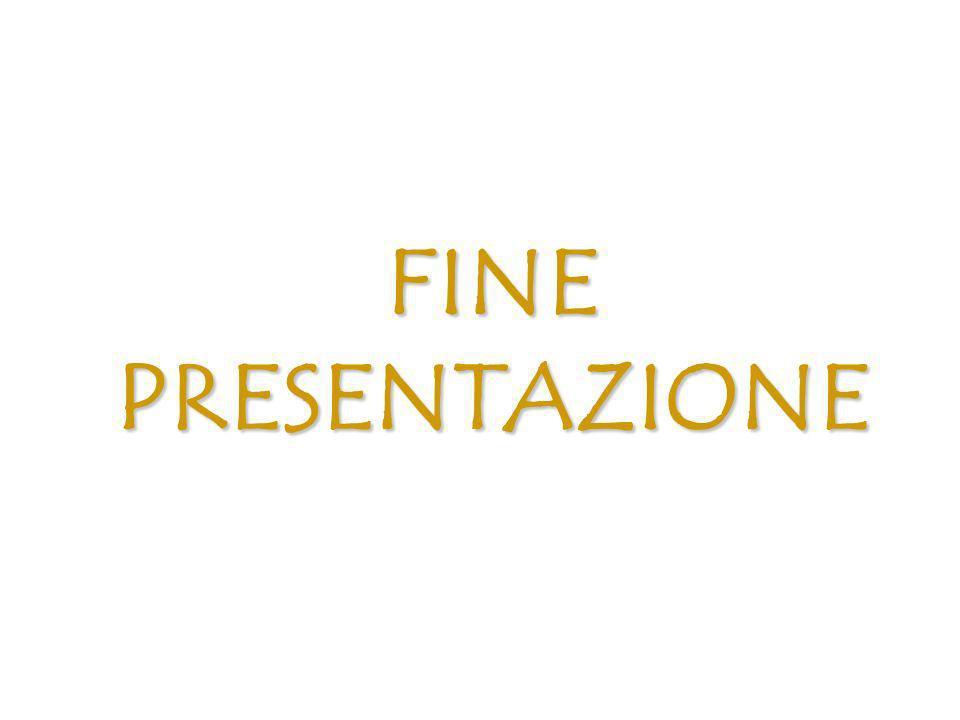 FINE PRESENTAZIONE Presentazione 33