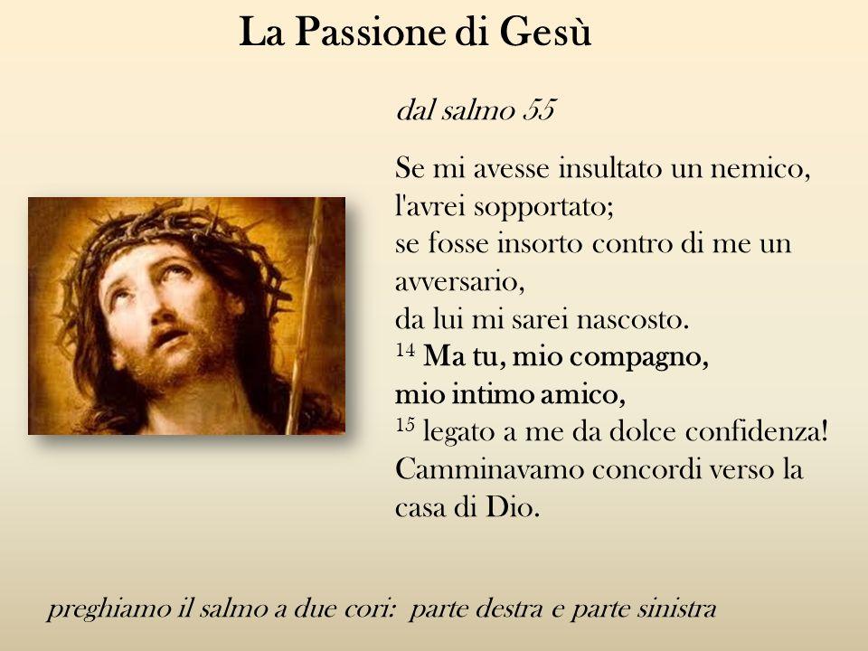 La Passione di Gesù dal salmo 55 Se mi avesse insultato un nemico,