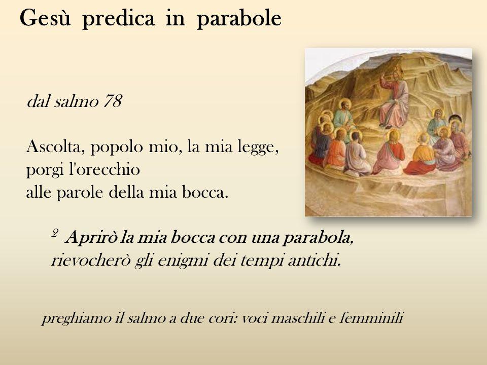Gesù predica in parabole