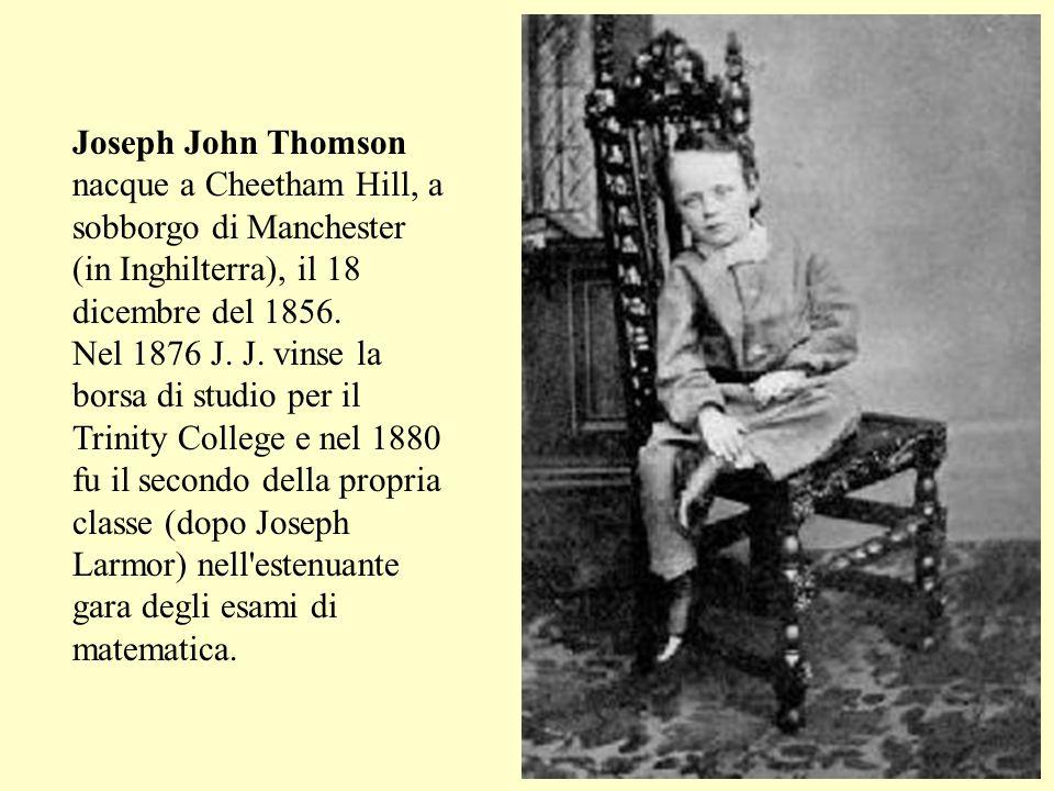 Joseph John Thomson nacque a Cheetham Hill, a sobborgo di Manchester (in Inghilterra), il 18 dicembre del 1856.