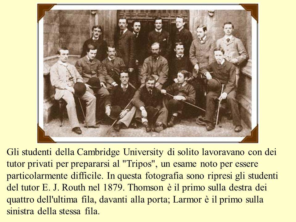 Gli studenti della Cambridge University di solito lavoravano con dei tutor privati per prepararsi al Tripos , un esame noto per essere particolarmente difficile.