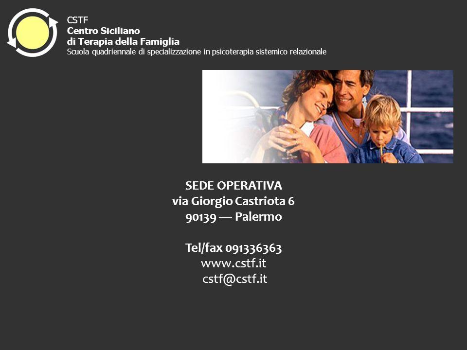 SEDE OPERATIVA via Giorgio Castriota 6 90139 — Palermo