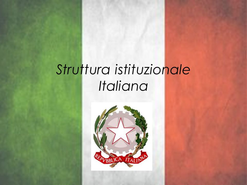 Struttura istituzionale Italiana