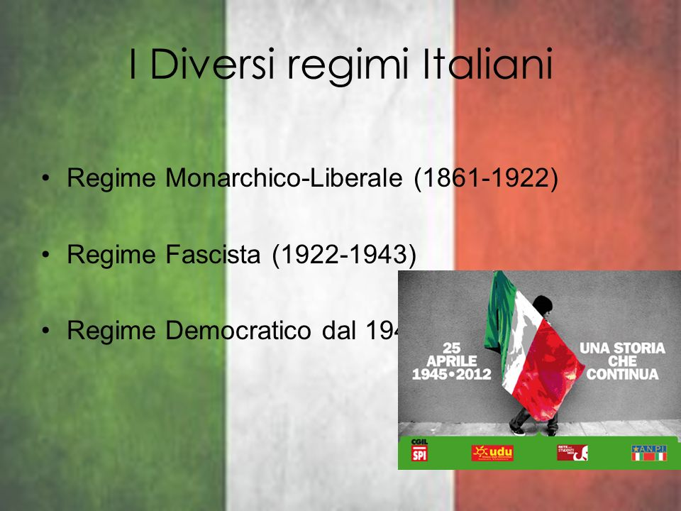 I Diversi regimi Italiani