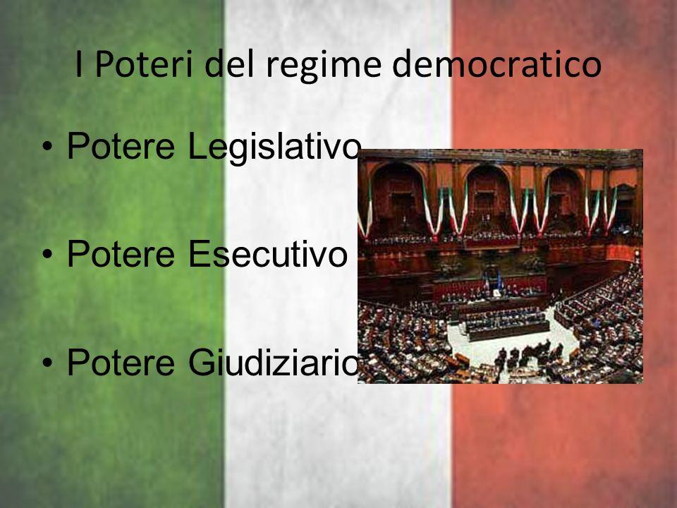 I Poteri del regime democratico
