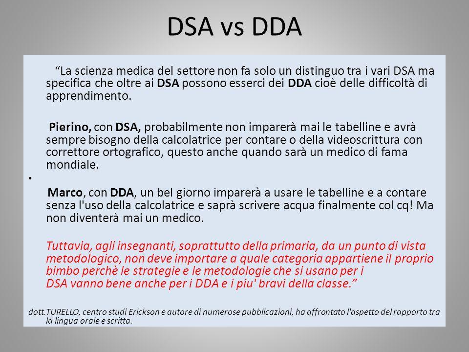 DSA vs DDA