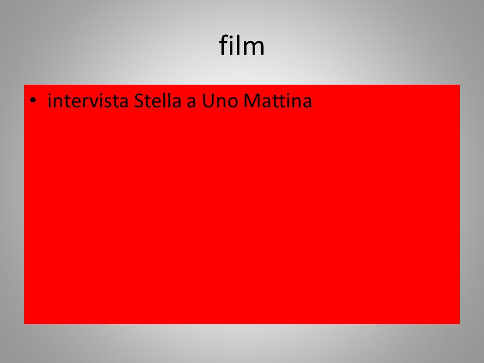 film intervista Stella a Uno Mattina
