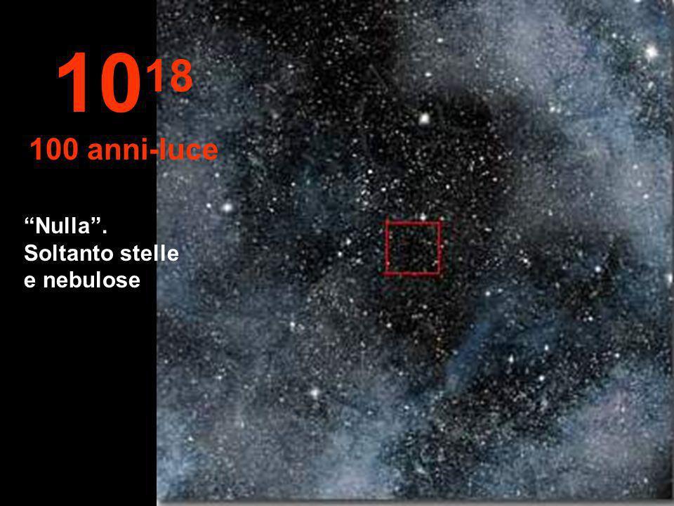1018 100 anni-luce Nulla . Soltanto stelle e nebulose