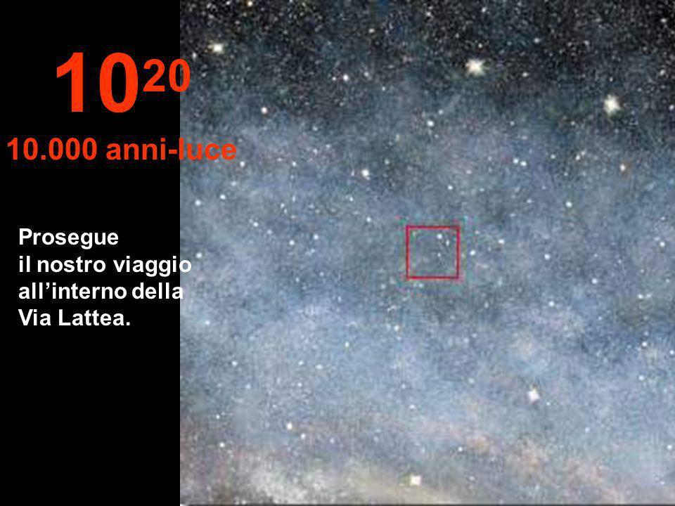 1020 10.000 anni-luce Prosegue il nostro viaggio all'interno della Via Lattea.