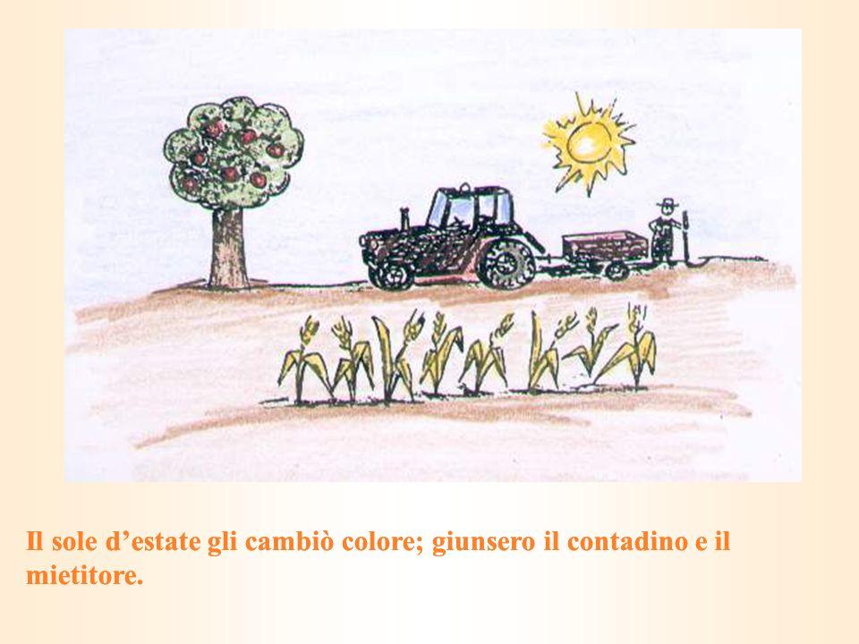 Il sole d'estate gli cambiò colore; giunsero il contadino e il mietitore.