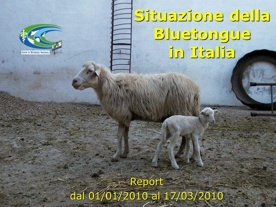 Situazione della Bluetongue in Italia