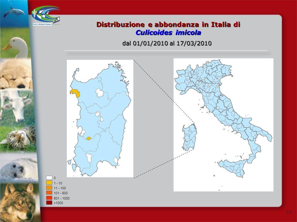 Distribuzione e abbondanza in Italia di Culicoides imicola