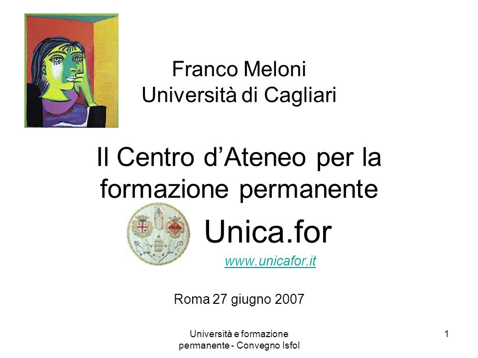 Franco Meloni Università di Cagliari