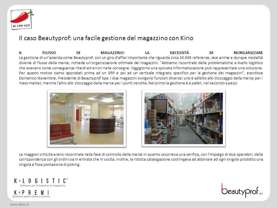 Il caso Beautyprof: una facile gestione del magazzino con Kirio
