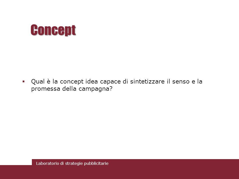 Concept Qual è la concept idea capace di sintetizzare il senso e la promessa della campagna