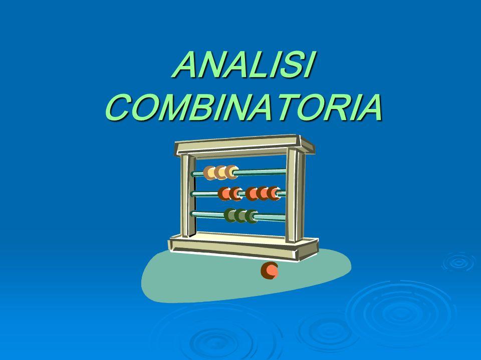 ANALISI COMBINATORIA