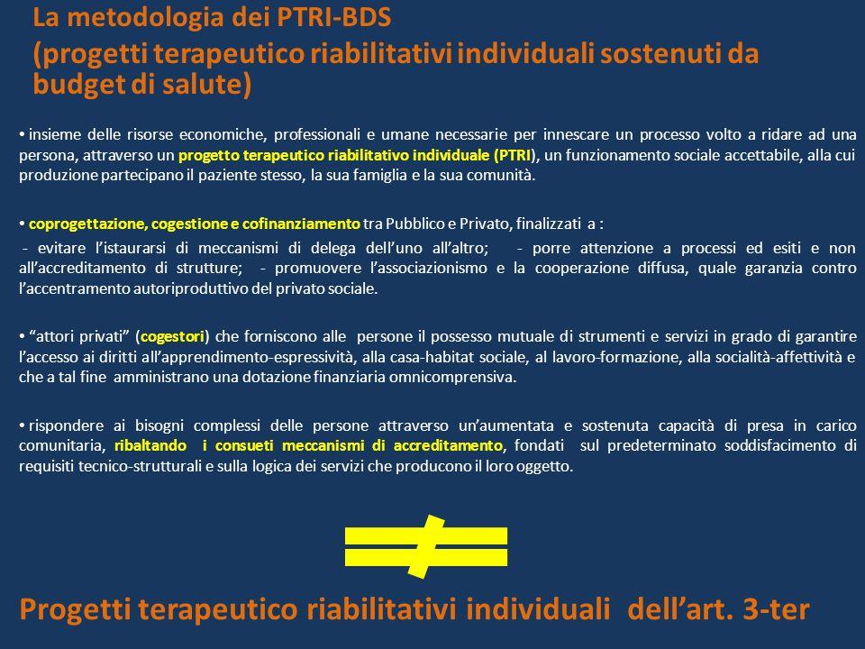 Progetti terapeutico riabilitativi individuali dell'art. 3-ter