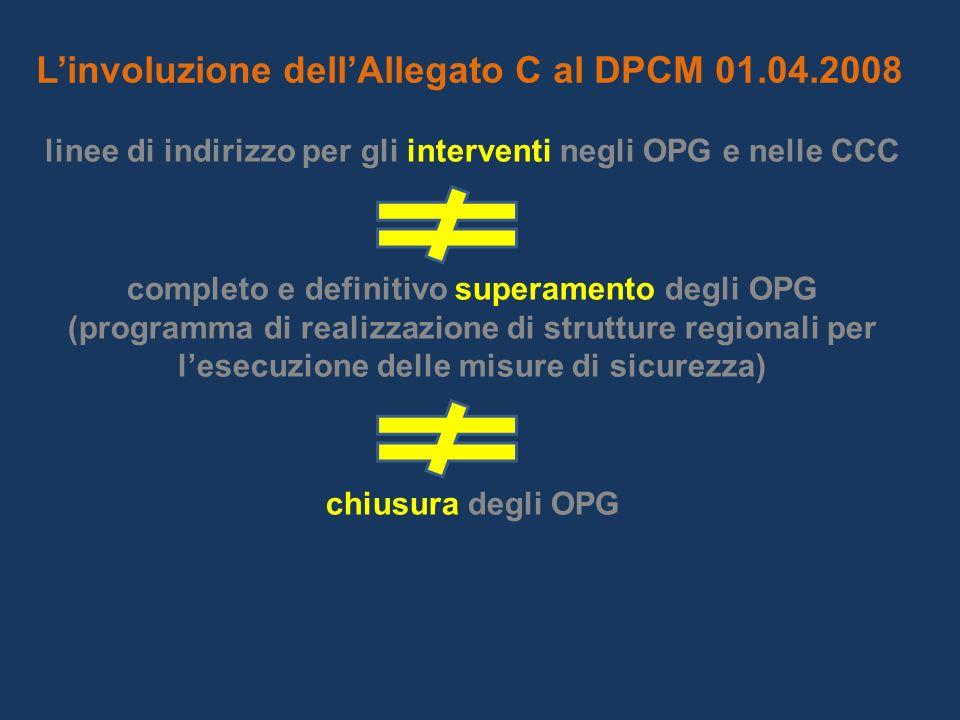 L'involuzione dell'Allegato C al DPCM 01.04.2008