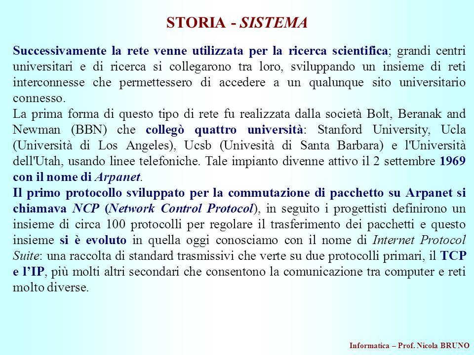 STORIA - SISTEMA