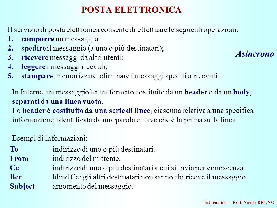 POSTA ELETTRONICA Asincrono