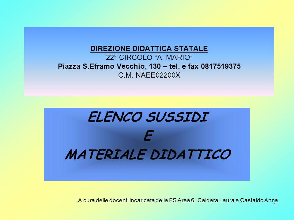 ELENCO SUSSIDI E MATERIALE DIDATTICO