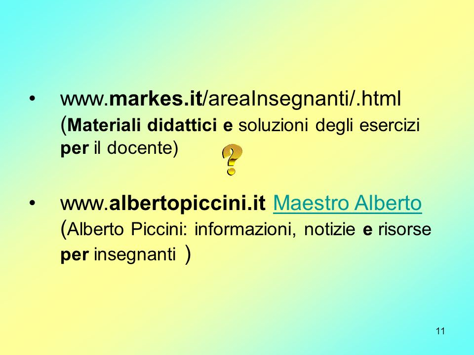www. markes. it/areaInsegnanti/