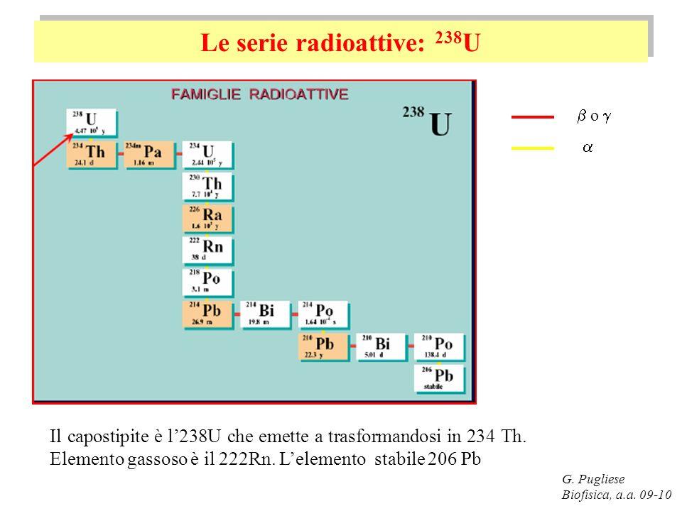 Le serie radioattive: 238U