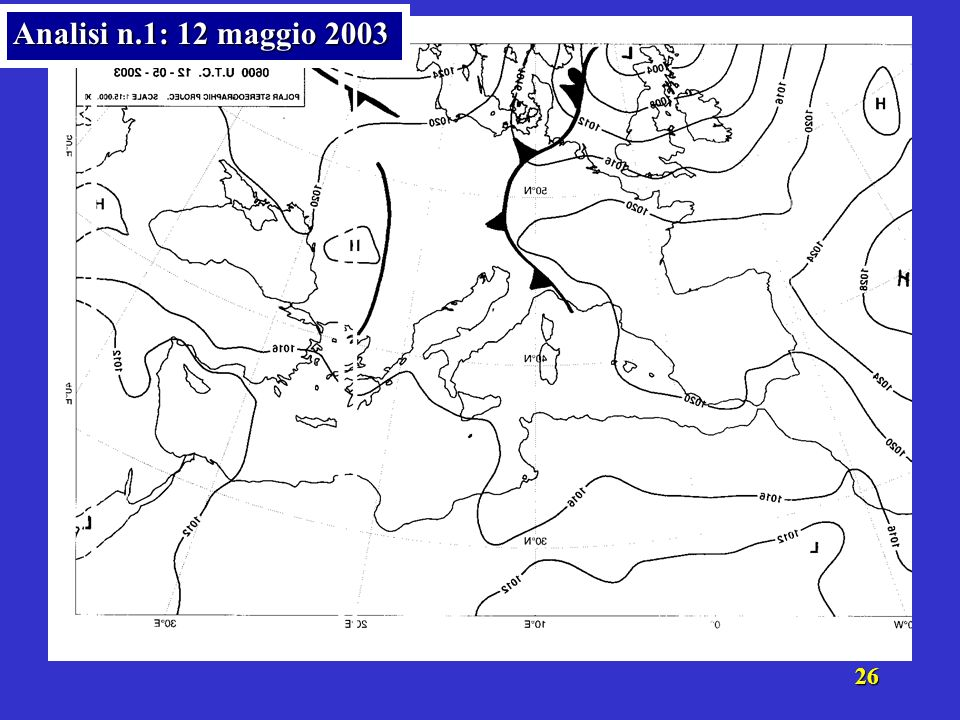 Analisi n.1: 12 maggio 2003
