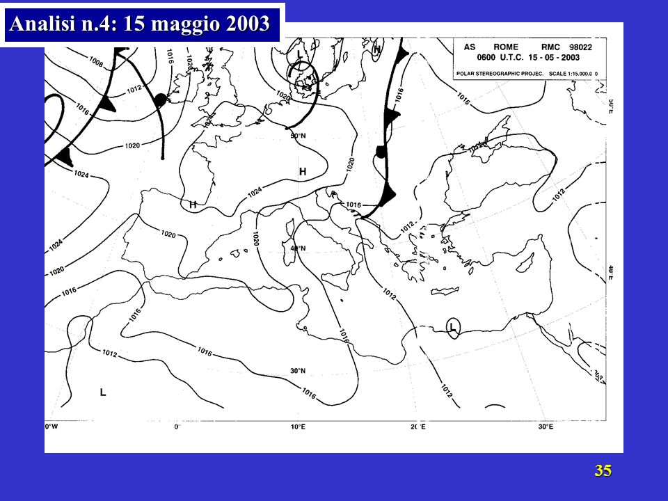 Analisi n.4: 15 maggio 2003